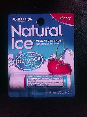 Mentholatum Natural Ice Cherry Lip Balm, box of 24
