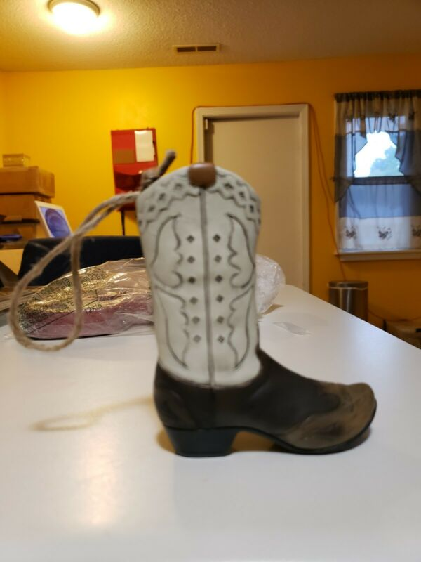 Wooden Cowboy Boot Ornament 5.5 inches Tall