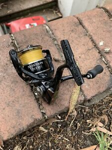 Shimano sustain 2500 with 6 pound 8x sunline braid - fishing reel