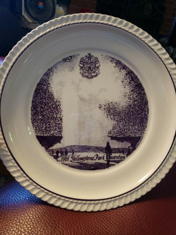 Vintage Purple 1961 Yellowstone  Sigma Alpha Epsilon Fraternity Souvenir Plate