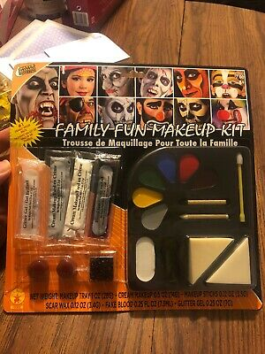 Face Paint Kit Halloween Makeup Grease Make Up Made In USA Clown Zombie Cat (Clown Face Makeup Halloween)