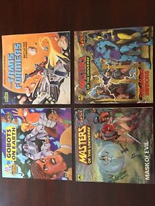 VINTAGE Masters Of The Universe, Transformers, Gobots books