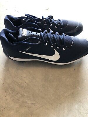 d19a68ea9 Nike Air Show Clipper Baseball Cleats Size 13 Navy Blue Left Pitching Toe  Added