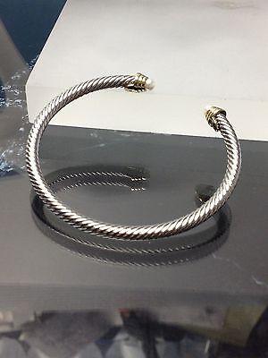 Designer Inspired Cuff Bracelet - Silver Gold Finish  WHITE  PEARL  Stone   Designer Inspired   Open Cuff Bracelet