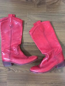 Women's Red Cowboy boots size 40