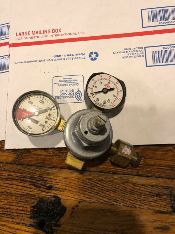 Tap-Rite Series 740 Compressed Gas Regulator 366m READ Ashcroft Perlick Gauge