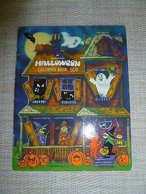 Vintage Halloween Hallmark Coloring Book   Mini Sized  Haunted House USA (Halloween Mini Coloring Book)