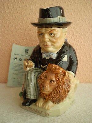 Kevin Francis Ceramics : Churchill Toby Jug : Spirit of Britain : Limited Ed