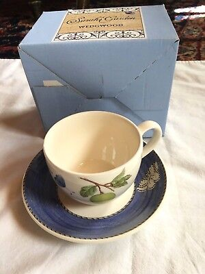 Wedgwood  SARAH'S GARDEN teacup and saucer  set new!