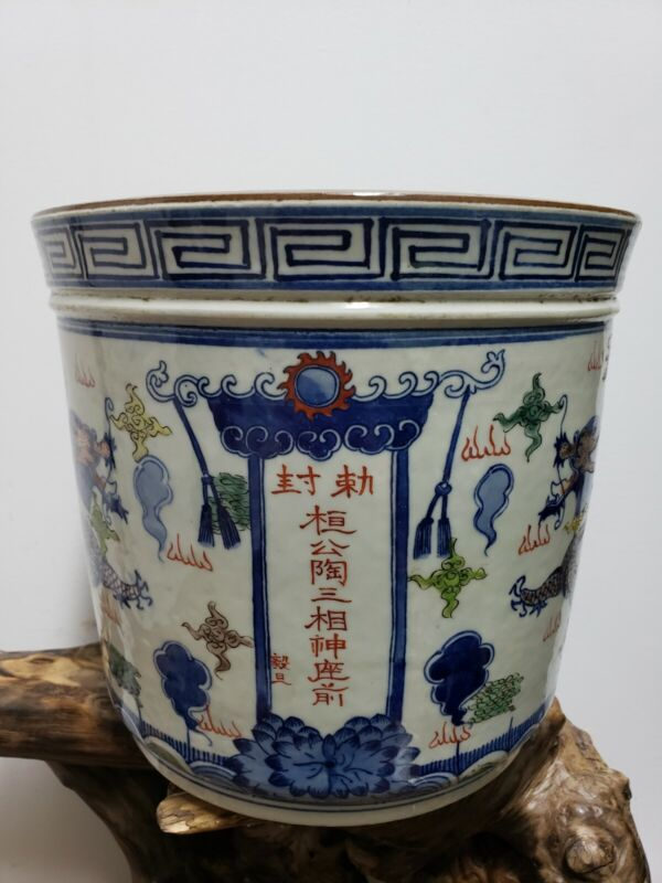 Chinese Porcelain Doucai Flower Pot Ginger Jar