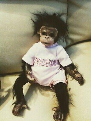 """16"""" Lifelike Soft Silicone Vinyl Reborn Newborn Baby Monkey Girl Doll Toy Gift"""
