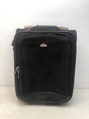 "Nice Samsonite 18"" Rolling Carry-On Black Luggage Suitcase"