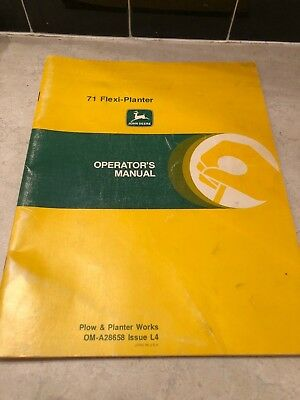 John Deere 71 Flexi-planter Operators Manual Om-a28658 Issue L4
