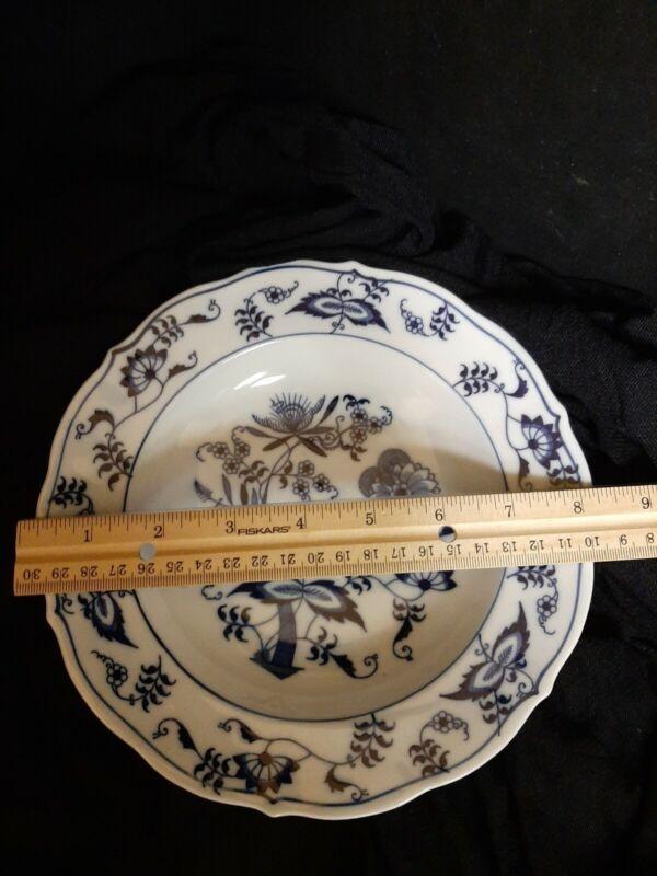 "Blue Danube Onion Pattern 8 1/4"" Rimmed Soup Plate Bowl"