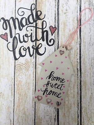 Home Sweet Home, Shabby Chic, Mini Plaque, handmade, hanging tree, wall decor