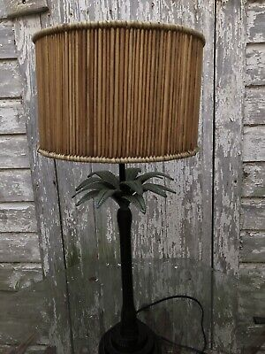 Palm Tree Table Decorations (Bronze Table Lamp Palm Tree Base Metal Finish Home Reading)