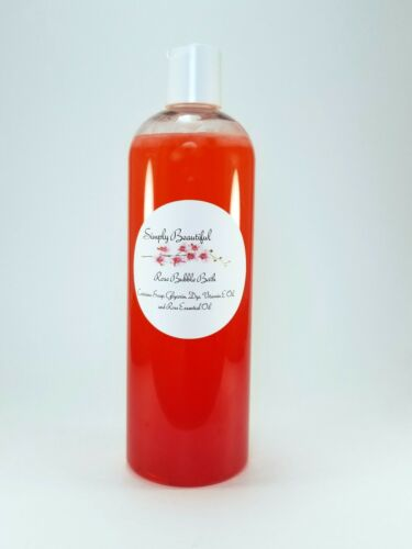Simply Beautiful Rose Bubble Bath 8oz Unisex/Womens/Kids/Gift for her/Kids