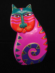 Laurel Burch Wooden Cat Figurine Fantastic Feline 7