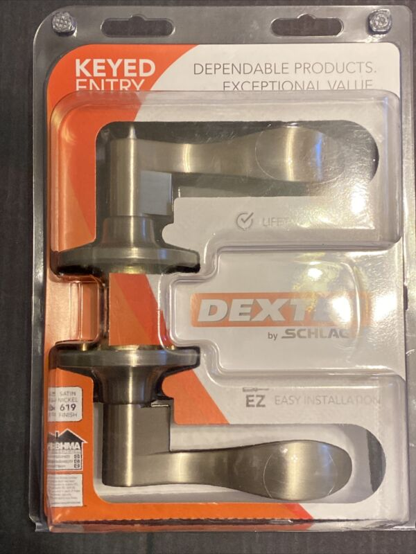 Dexter by Schlage J54-SEV Seville Single Cylinder Keyed Entry Door Lever  Nickel