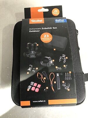 Go Pro Compatable, Rollei Action Camera Accessories 23 Pcs Set.