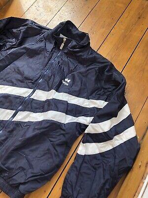 90s Windbreaker Sports White Striped Navy Jacket Atlantic Varsity by Kaepa