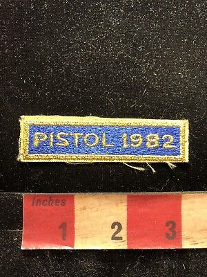Vintage 1982 PISTOL COMPETITION Tab Patch Gun / Firearm / Ammo Related 83A1