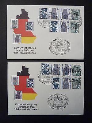 BERLIN ZUSAMMENDRUCKE W 83 / W 88 SCHMUCK-FDC TOP! Mi 300.- d7264
