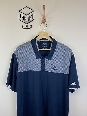 ADIDAS GOLF, Mens Size XL, Navy, Small Logo, Regular Fit, Golf Polo Shirt,*VGC*