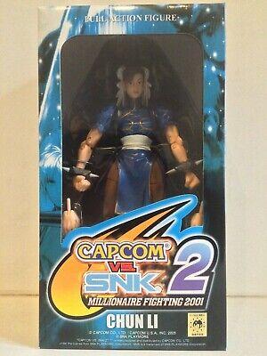 Capcom vs SNK: Chun-Li Action Figure (Street Fighter Toy & Accessories) Rare...