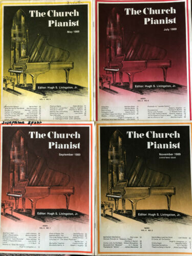 LOT Of 4 Church Pianist 1989 Piano Sheet Music Religious Devotional Gospel