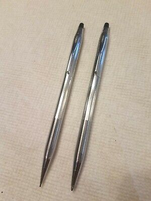 Cross Chrome Pen & Pencil Set - Marked: Westinghouse - Both Work