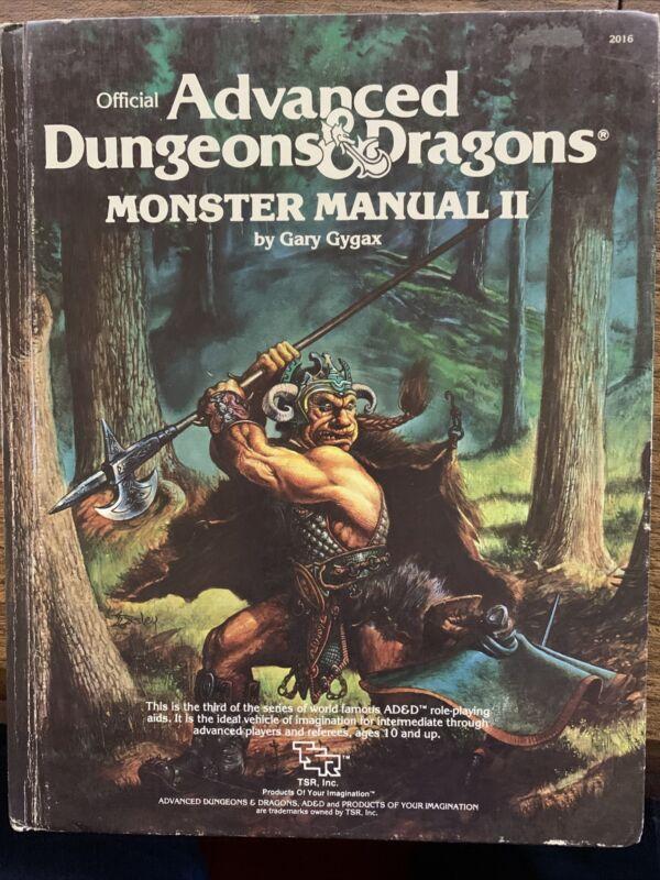 monster manual 2 ii Dungeons Dragons 2016 1983