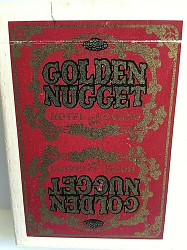 Golden Nugget Red Cards Vintage gambling Casino playing Cards