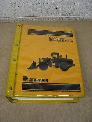 Komatsu Dresser 568 Wheel Loader Shop Repair Service Manual Used Free Shipping