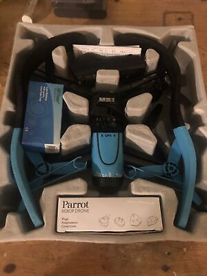 Parrot Bebop Quadcopter Camera Drone 14MP Blazing HD 1080p Blue.