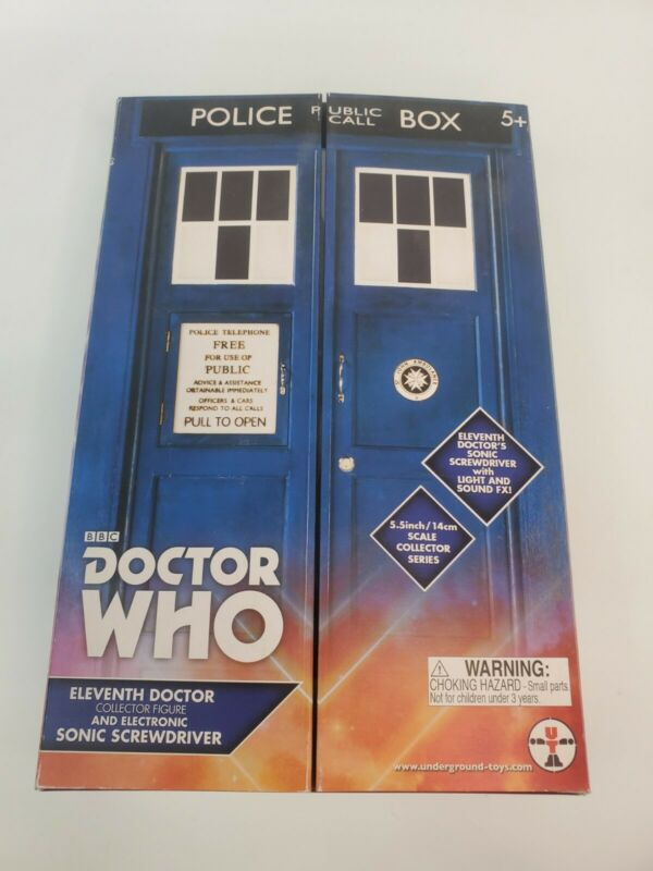 Doctor Who 11th DOCTOR Collector Figure and Electronic SONIC SCREWDRIVER set New
