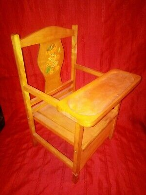 Child's Wooden Potty Chair With Tray