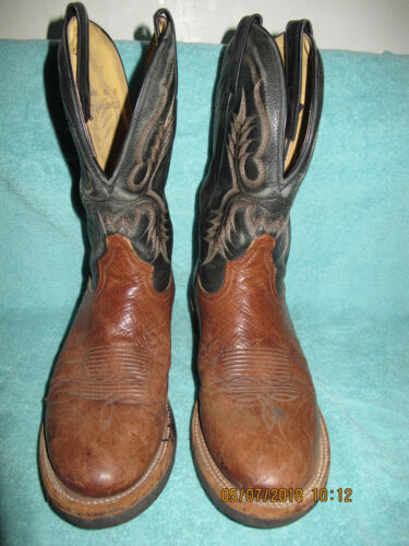 Tony, Lama, ostrich, cowboy, western, mens, boots, 8.5, D, 8, 1/2, riding, rodeo