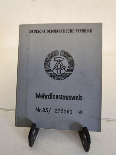 DDR GDR East Germany Wehrpass NVA National Volksarmee Service Card