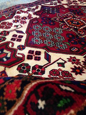 "Spectacular Old Tribal Authentic Persian Rug vintageHand Knotted 3.'7"" X 5'. 3"" for sale  Shipping to Canada"