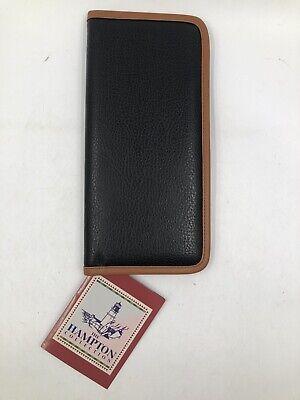 Samsill Pebble Leather Feel Business Card Organizer Holder File Book Hampton