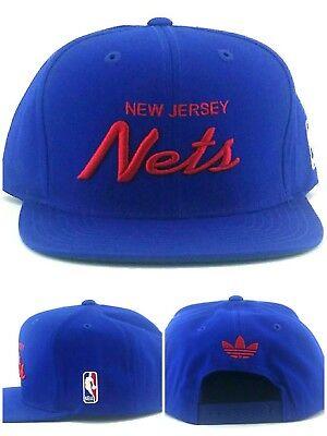 New Jersey Nets New Adidas Brooklyn Mitchell & Ness Blue Era Snapback Hat Cap
