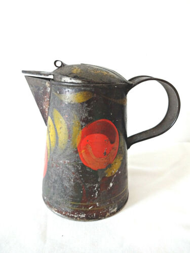 Antique Tole Painted Tin Creamer