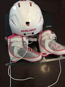 Casque et patin de fille