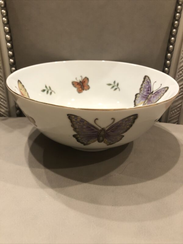 ANDREA BY SADEK BUTTERFLY BOWL, NO. 8582 Japan Hand Painted Gold