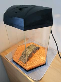 Hexagonal fish tank with light, filter/pump and heater
