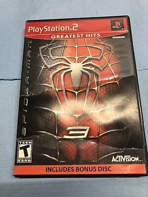 Sony Playstation 2 PS2 Spiderman 3 Greatest Hits Video Game Complete Bonus Disc