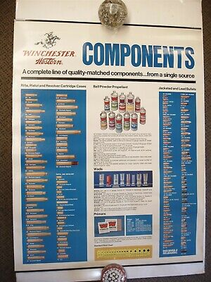 VINTAGE Winchester Western Components Paper Poster Advertising Sign