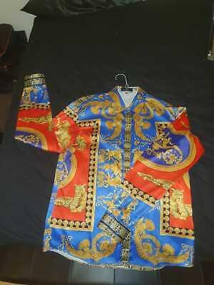baroque shirt men xxl versace style vintage rare