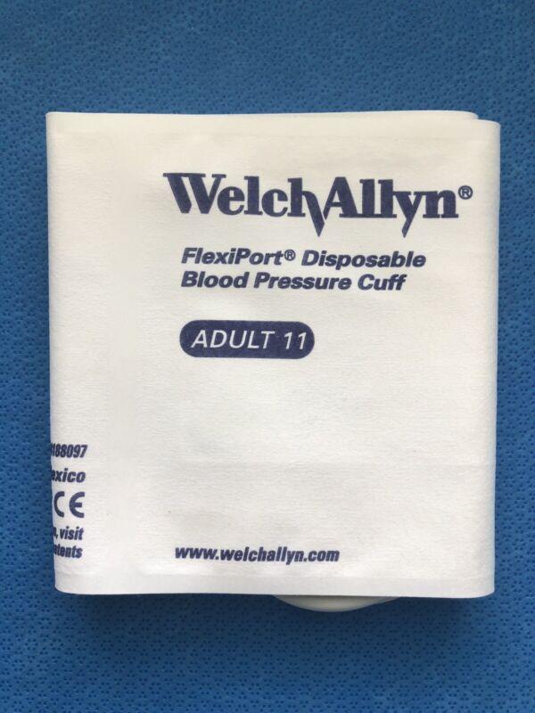 Welch Allyn Blood Pressure Cuff ADULT Soft 2-Tube #SOFT-11-2MQ Genuine Sealed